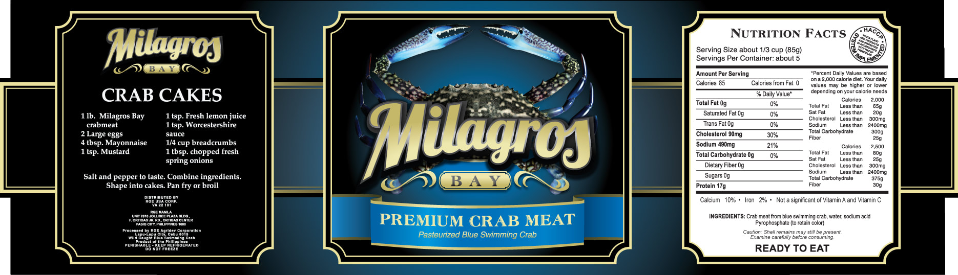 Milagros Bay - Pasteurized Blue Swimming Crab
